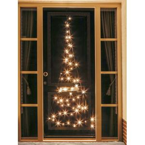 Fairybell kerstboom deurverlichting 210 cm 60 led warmwit