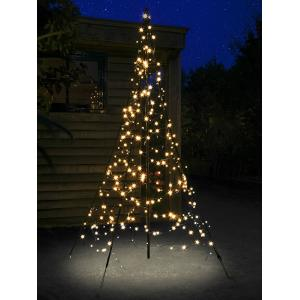 Fairybell licht kerstboom 200 cm 300 led warmwit met mast
