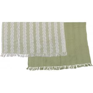 Plaid set groen (19.95 EUR)