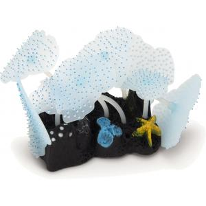 Zeeanemoon blad glow in the dark blauw aquarium decoratie (13.99 EUR)